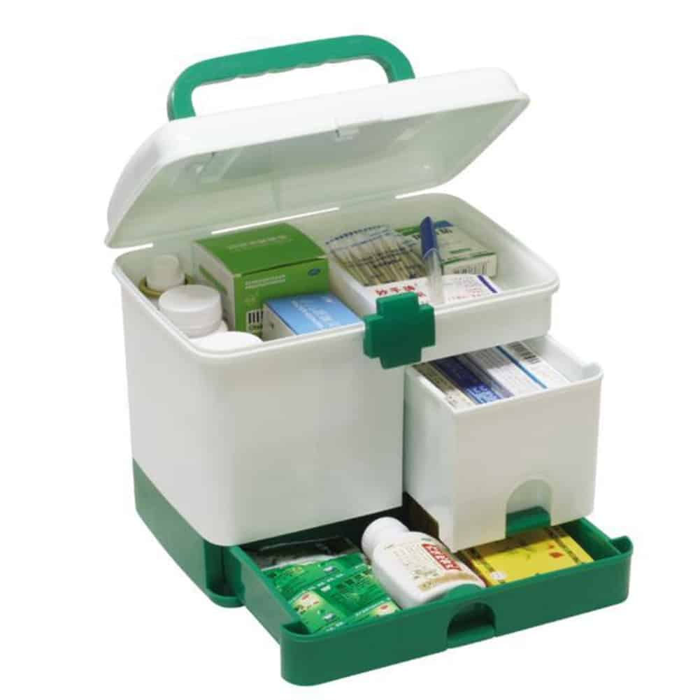 First Aid Box Multi-Layer Medicine Kit