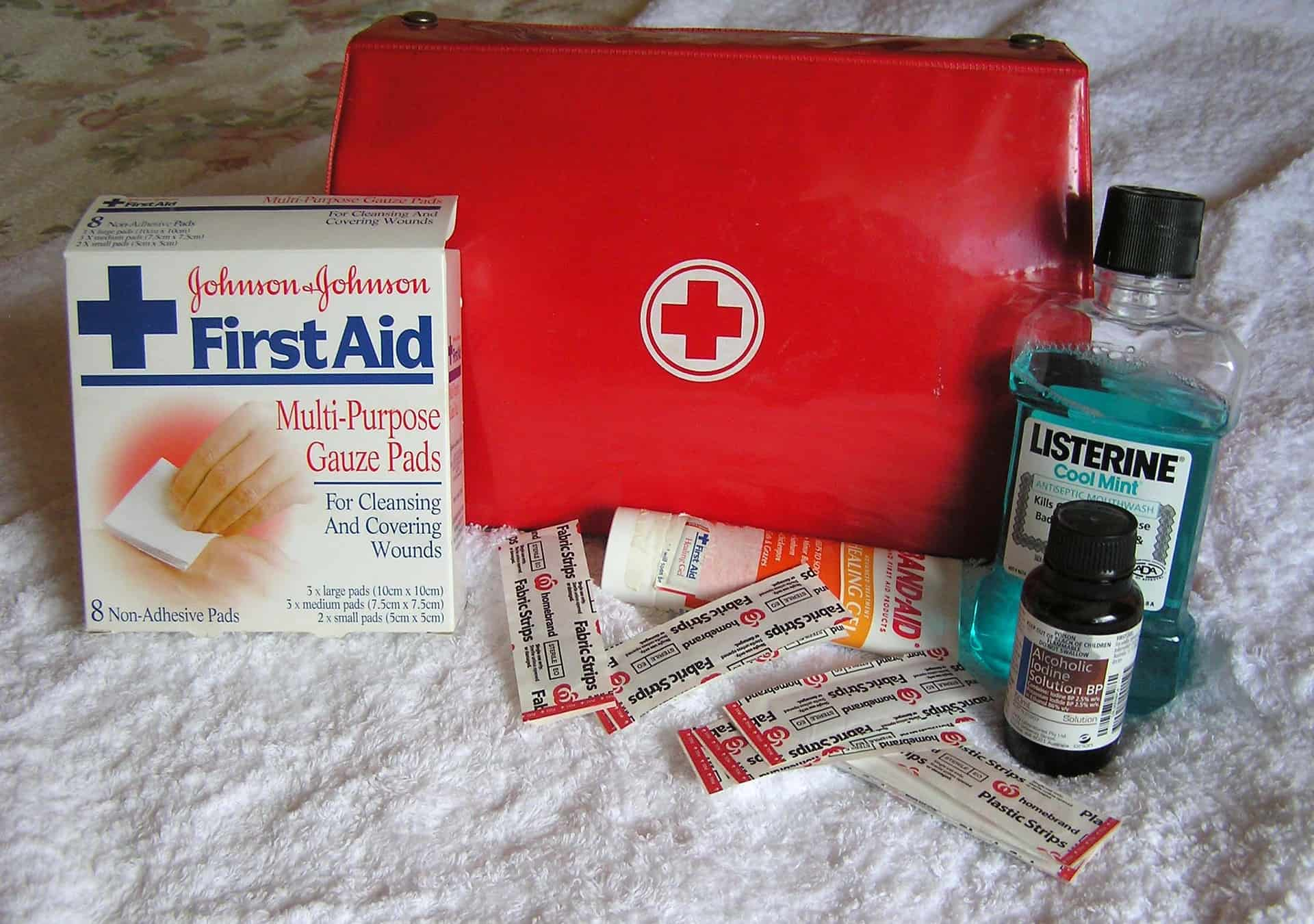 First aid at home